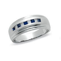 Men's Engagement Band Ring 14k White Gold Plated 925 Silver Ring Free Shipping - $68.99