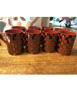 Vintage Fitz and Floyd avante garde set of Four coffee cups pattern Plat... - $48.00