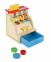 Melissa & Doug Sort & Swipe Cash Register - Wooden Educational Toy With 3 Coins  - $28.46