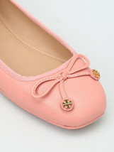 TORY BURCH Laila Driver Flats Double Charm Logo Pink Leather sz 7.5 - $96.56