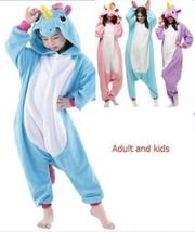 New Adult Kids Unisex Animal Hoodie Cosplay Costume Unicorn Pony Kigurum... - $37.99