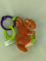 "Eeboo Squirrel Rattle Plush Clip On 5"" 2016 Stuffed Animal Toy - $14.45"
