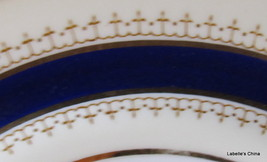 "Pentland 8"" Salad Plate Fine Bone China Cobalt & Gold Made in England by Aynsley image 2"
