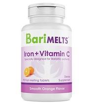 BariMelts Iron + Vitamin C, Dissolvable Bariatric Vitamins, Natural Oran... - $38.86