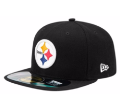 Nfl Pittsburgh Steelers Youth 6 1/2 New Era 59FIFTY On Field Fitted Cap Hat New - $16.97