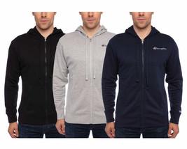 Champion Men's Full Zip Hoodie Hoody Script Logo Variety Colors & Sizes - $29.99