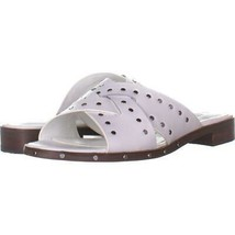 Nine West Clermont Flat Slide Sandals 121, White, 5.5 US - $27.06