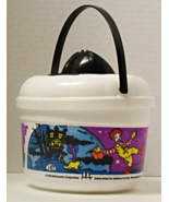 1999 Used McDonalds Happy Meal Halloween Pail White with Cookie Cutter Lid - £7.66 GBP