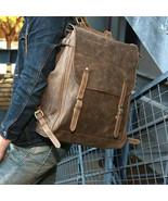 Sale, Handmade Men Backpack, Horse Leather Travel Backpack, Vintage Lapt... - $165.00