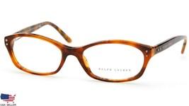New Ralph Lauren Rl 6091 5357 Light Havana Eyeglasses Frame 51-16-135mm Italy - $61.88