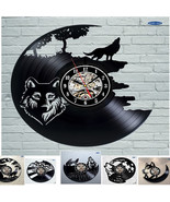 Wolf Pictures Vinyl Record Wall Clock - Get unique bedroom or kitchen wa... - $29.99