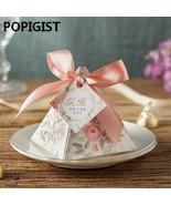 POPIGIST® 100pcs/Lot Creative Pink Floral Triangular Pyramid Wedding Favor - $63.97