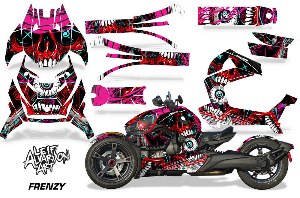 Full Body Wrap Graphic Sticker Decal for Can-Am Ryker 2019 - Frenzy Red
