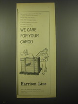 1966 Harrison Line Advertisement - We care - $14.99