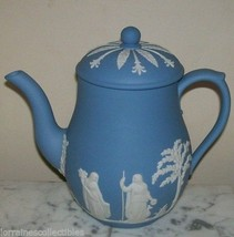 WEDGWOOD BLUE JASPER COFFEE/TEA POT MADE IN ENGLAND - $154.28