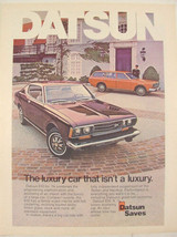 1974 Luxury Car that Isn't A Luxury DATSUN 610 Print Ad ~ Datsun Saves - $9.99
