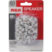 RCA AH12RV Speaker Wire Clips, 80-Count - $24.57