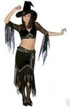 SEXY Black Witchy Woman BOHO WITCH HALLOWEEN COSTUME WOMENS 6 - 12 - $15.79