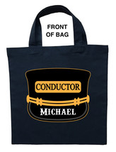 Train Conductor Trick or Treat Bag, Train Conductor Halloween Bag - $11.99+