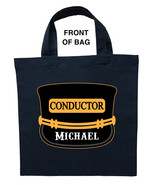Train Conductor Trick or Treat Bag, Train Conductor Halloween Bag - $11.39+
