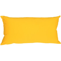 Pillow Decor - Caravan Cotton Yellow 9x18 Throw Pillow - £12.98 GBP