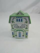 Vintage 1989 Lenox Spice Village Tarragon Porcelain Spice Jar W Lid 34618 - $12.86