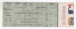Chicago White Sox @ Tampa Bay 6/18/06 Box Office Ticket! Rays W 5-4 - $4.99