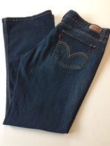 Levis 518 Superlow Womens Blue Jeans Size W35 L30 Dark Wash Boot Cut Denim - $19.24