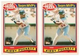 (2) 1989 Topps Hills Team MVP's Baseball #23 Kirby Puckett Card Lot Twins - $2.99