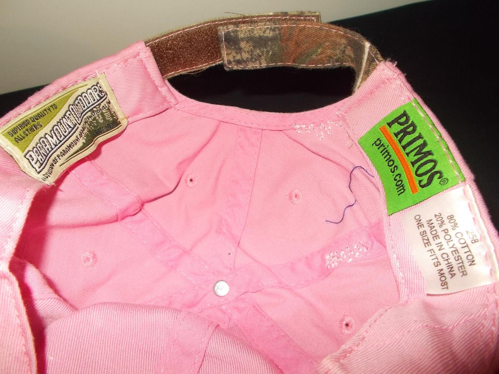 Primos Hunting Realtree pink camouflage bling bling deer womens hat sku30