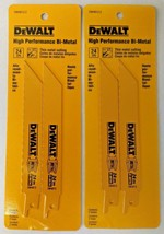 "Dewalt DW4813-2 6"" x 24 TPI Straight Back Bi Metal Reciprocating Saw Bla... - $4.95"