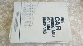 1992 FORD THUNDERBIRD MERCURY COUGAR WIRING DIAGRAMS MANUAL USED OEM - $21.05