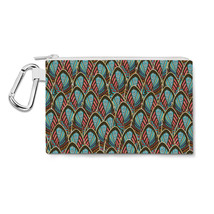 Peacock Feathers Canvas Zip Pouch - $15.99+