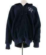 NFL Dallas Team Color Poly Knit Sherpa Lining Zip Hoodie Cowboys L NEW A... - $46.51
