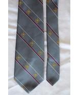 The President Grey, White, Red, Gold, Striped, Silk Blend, Mens Vintage ... - $19.79