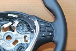 12-18 BMW F30 Sport Steering Wheel w/ Cruise BT Volume W/O Paddles -RED STITCH image 3