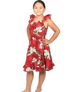 Girl's Spanish Style Dress Hawaiian Orchid Makani Print/Made in Hawaii - $36.85 CAD+