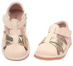 Toddler/Little Kids Close Toe Casual Outdoor Sandal Beige&Golden