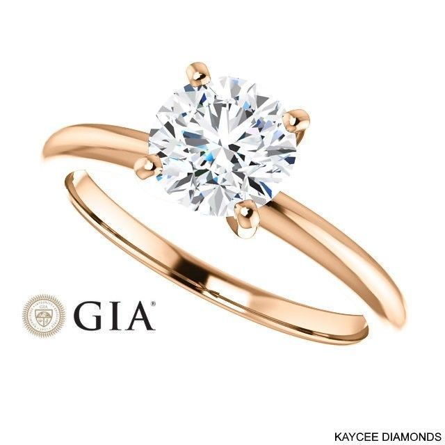 0.90 Carat GIA Certified Diamond Ring in 14K Gold (with GIA certificate)