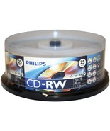 Philips CDRW8012/550 700MB 80-Minute CD-RWs, 25-ct Spindle - $29.48