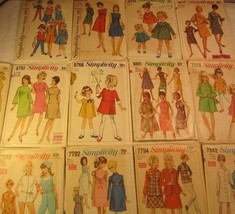 Choice 1960's Simplicity Pattern Toddler Child Miss 1 3 4 5 8 10 12 Blouse Skirt - $7.00