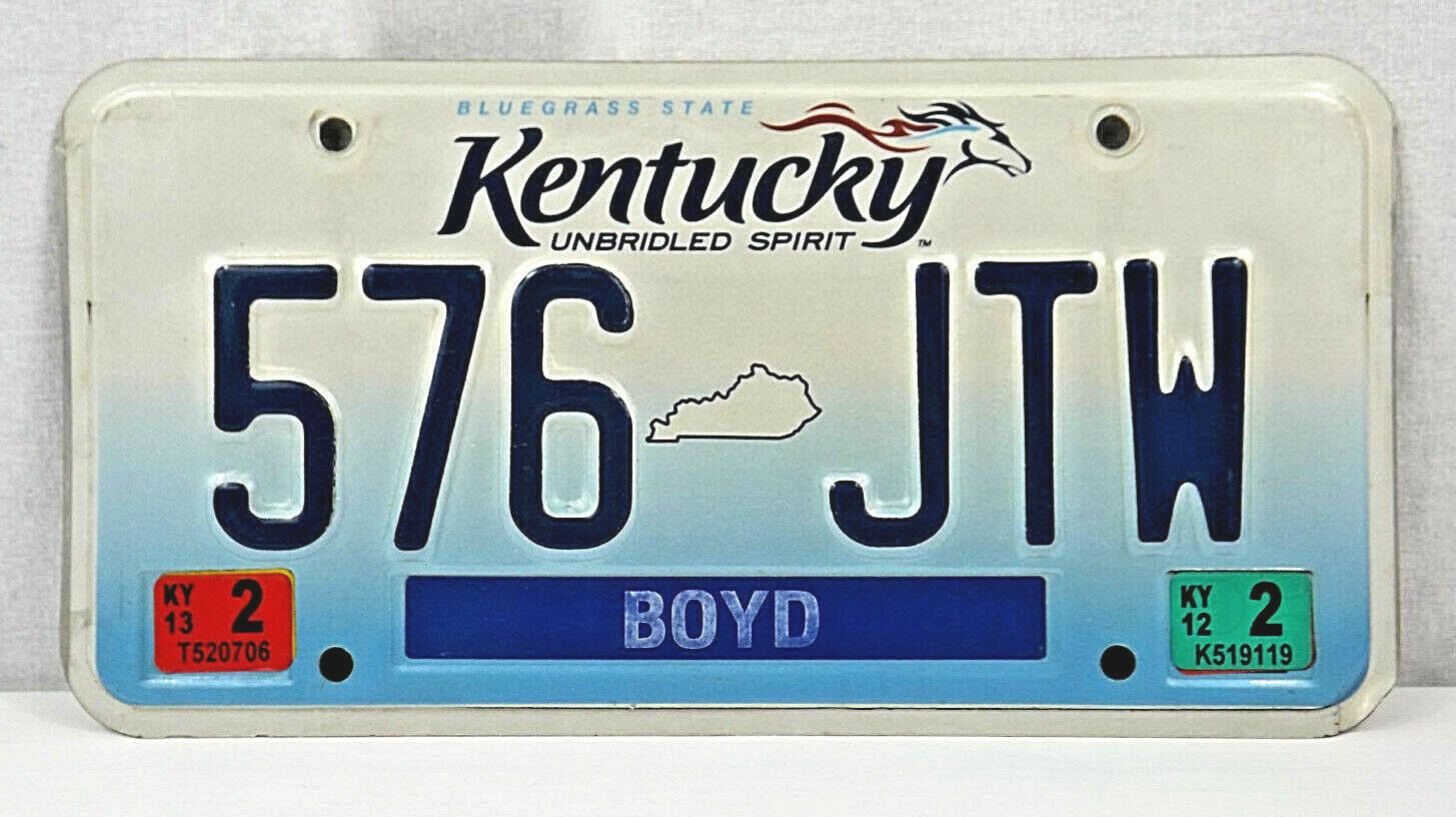 Primary image for Kentucky UNBRIDLED SPIRIT License Plate Boyd County - NICE !!