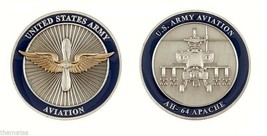 "ARMY AVITION AH-64 APACHE MILITARY LOGO 1.75"" CHALLENGE COIN - $16.24"
