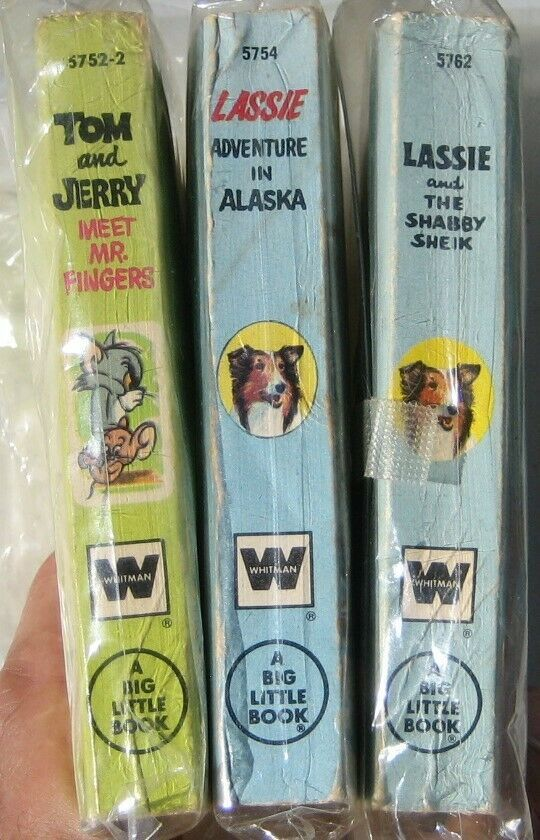 3-  A BIG LITTLE BOOK  Lassie, Tom & Jerry. Whitman 1960s image 3