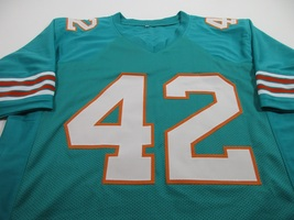 PAUL WARFIELD / NFL HALL OF FAME / AUTOGRAPHED MIAMI DOLPHINS CUSTOM JERSEY COA image 2