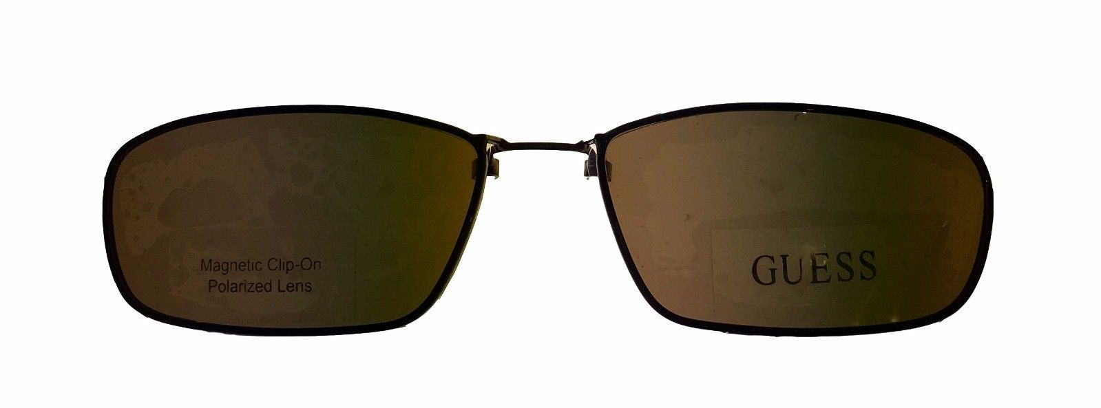 Guess Ophthalmic Mens Eyeglass Plastic Rectangle 1331 Demi Amber image 5