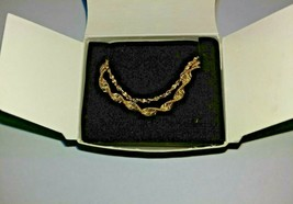 Vintage AVON 2 For Bracelets Large 1998 Gold Tone - $17.00