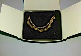 Vintage AVON 2 For Bracelets Large 1998 Gold Tone - $17.00