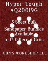 Hyper Tough AQ20019G - 1/4 Sheet - 17 Grits - No-Slip - 5 Sandpaper Bulk Bundles - $7.14