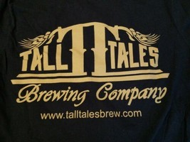 Tall Tales Brewing Company Blue Long Sleeve T Shirt Small Craft Beer Bre... - $15.88